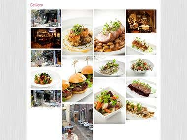 Sophias restuarant - Wordpress, custom modules