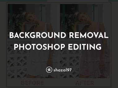 BACKGROUND REMOVAL/PHOTOSHOP EDITING
