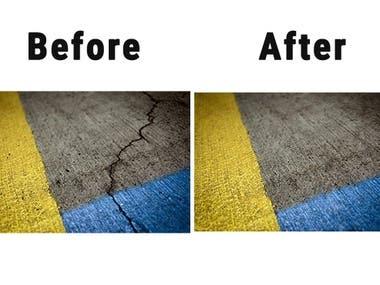 remove cracks