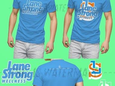 t shirt design sample for wellness company