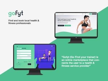 Gofyt - Fitness Trainer portal