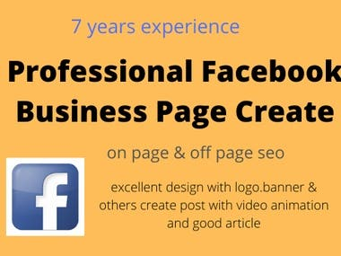 make a design and seo a facebook business page