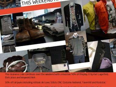 Flyers for MENON Men's Clothing