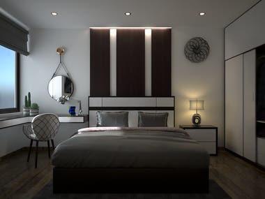 Bed room Interior Scene