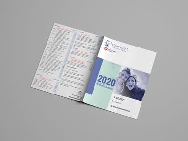 Bi fold Letter size brochure