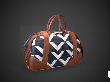 3D handbag with PBR textures