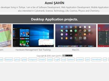 Azmi ŞAHİN - Desktop Application