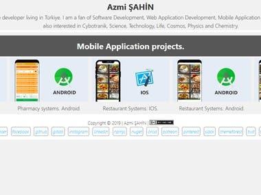 Azmi ŞAHİN - Mobile Application