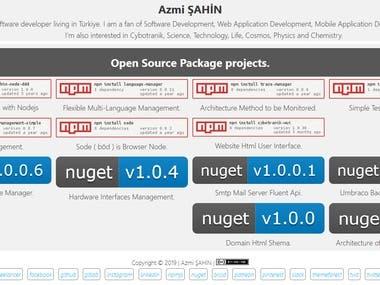 Azmi ŞAHİN - Open Source Project