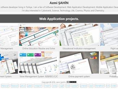 Azmi ŞAHİN -Web Application