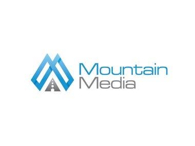Mountain Media logo design