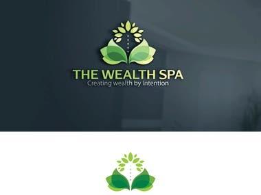 The wealth spa logo design