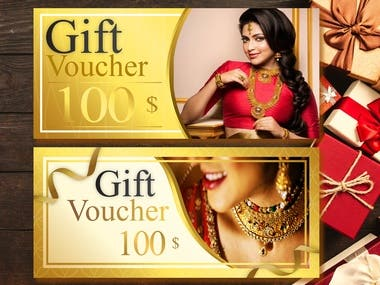 Gift voucher, Gift card design