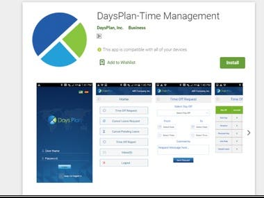 Android - DaysPlan-Time Management