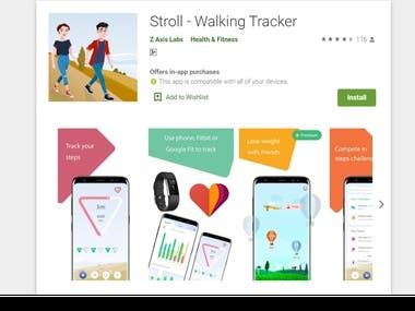 Android - Stroll - Walking Tracker