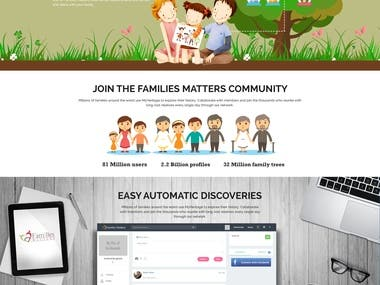 Design for website Family matters