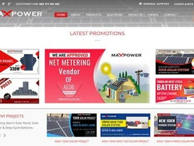 MaxPower WordPress website