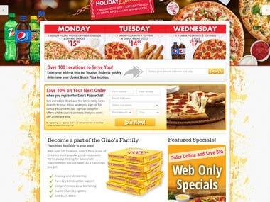 Pizza Website
