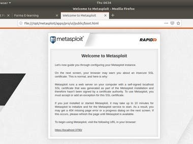 Install, Configure Metasploit and Set up your own workflow
