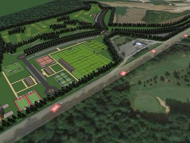 Contest WINNER of Sport Area Master Plan in France