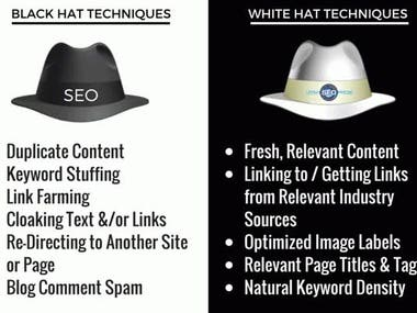 What is difference between black hat seo and organic seo ?