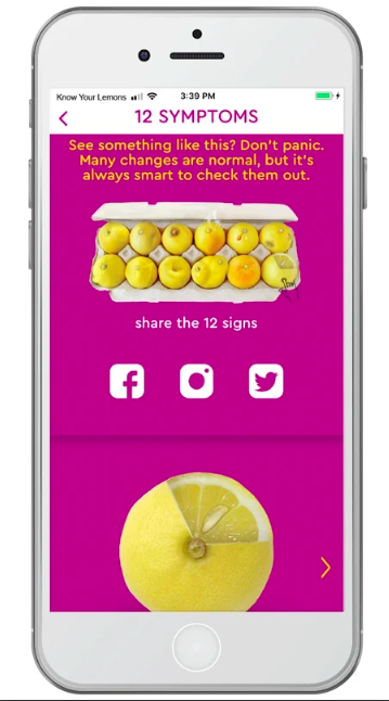 Know Your Lemons App Developed 4 Worldwide Breast Cancer Freelancer