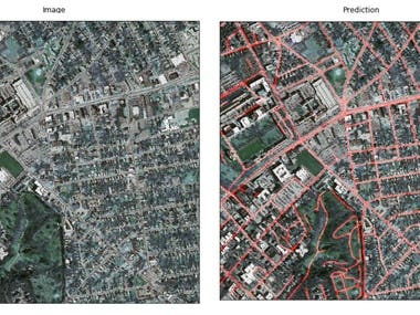 Road and building segmentation in aerial images.