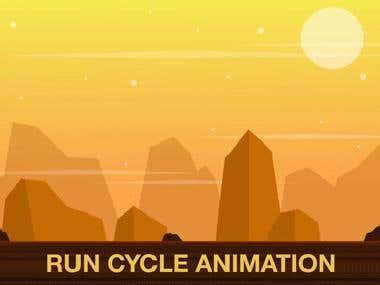 Running steps animation