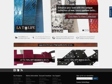 Leather ecommerce site