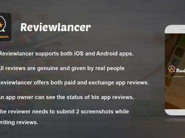 Reviewlancer ( Buy and Exhange reviews from the actual users