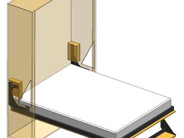Modern wall bed