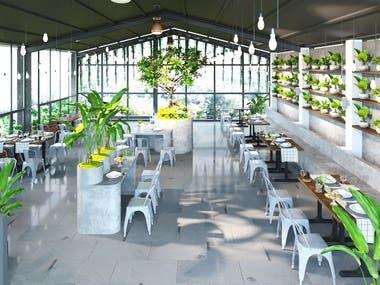 Tropical restaurant design