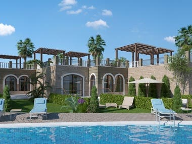 Architectural Visualization for a Resort in Hurghada, Egypt