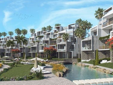 Architectural Visualization for a Resort in Sokhna, Egypt