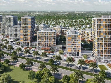 Architectural Visualization for a Residential Complex