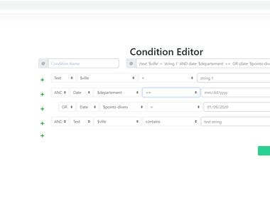 Condition Editor Tool