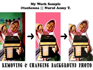 My Work Sample || Removing and Changing Background Photo