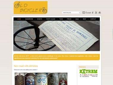 Joomla custom website for bicycles