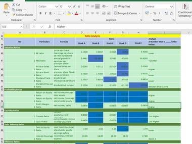 Ratio Calculator in Excel