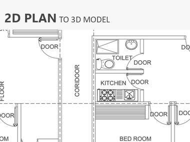 2D CAD to 3D Model