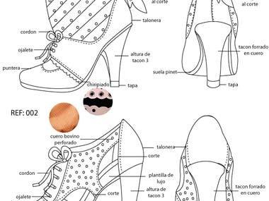 Footwear Technicar Drawing