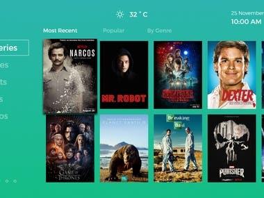 Smart movie tv app