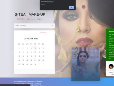 Wordpress for makeup booking site