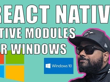 React Native on Windows using native modules tutorial