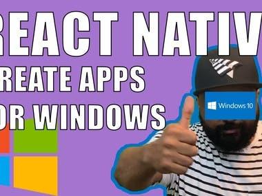 React Native on Windows 10