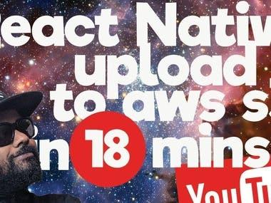 React Native upload files to AWS