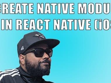 React Native native modules for ios