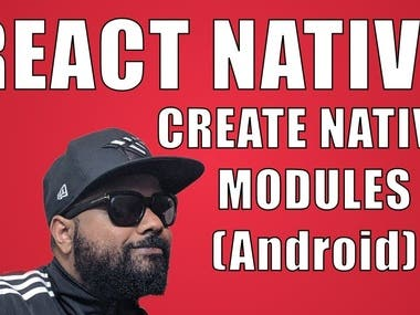 React Native create native modules for android