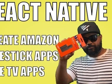 React Native create apps for Amazon Firestick tv