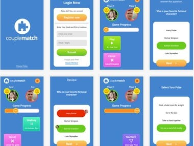 quiz game app(web+android/iphone mobile app)